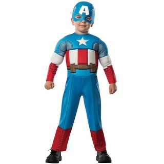 Rubies Deluxe Captain America Toddler Costume - Blue