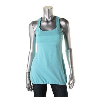 Calvin Klein Performance Womens Quick Dry Waist-String Casual Top