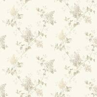 Brewster MEA79045 Ascott Grey Lilac Trail Wallpaper - grey lilac - N/A