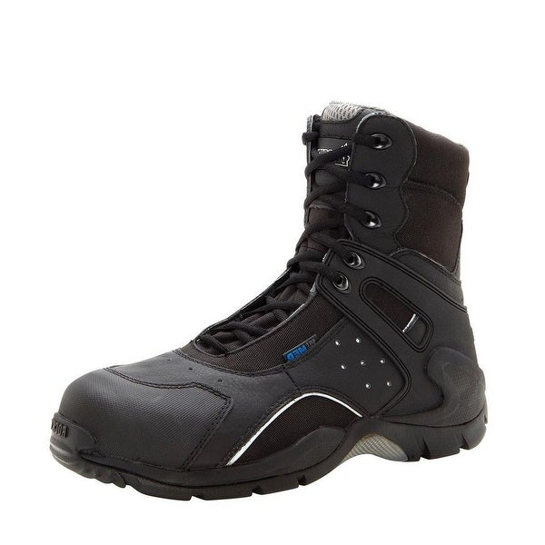 "Rocky Work Boots Mens 8"" Carbon Fiber Side Zip WP Black"