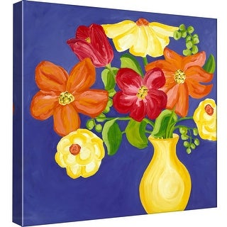 """PTM Images 9-97761  PTM Canvas Collection 12"""" x 12"""" - """"Brilliant Bouquet II"""" Giclee Flowers Art Print on Canvas"""