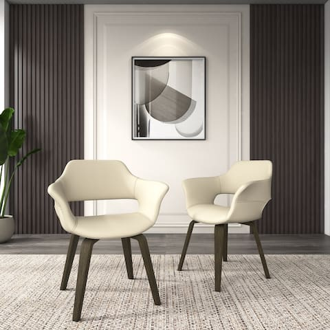 Corvus Patrizio Mid-Century Modern Accent Chair (Set of 2)