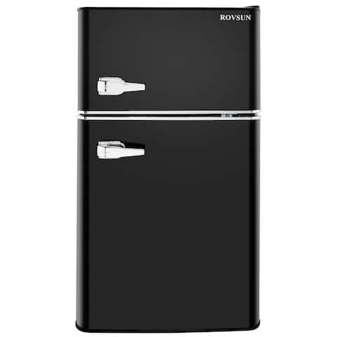 3.2 Cu.Ft. Retro 2-Door Household Refrigerator, Black