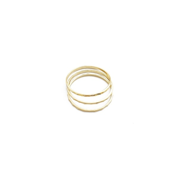 Honeycat Hammered Stacking Ring Trio (Delicate Jewelry)