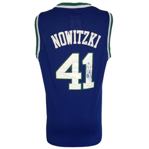 7050d941 Shop Dirk Nowitzki Signed Dallas Mavericks Blue Throwback Adidas Swingman  Jersey JSA - Free Shipping Today - Overstock - 21868635