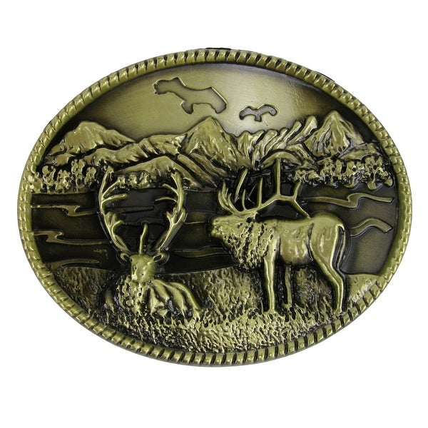 CTM® Scenic Moose Belt Buckle