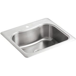 "Kohler K-3362-1  Staccato 25"" Single Basin Top-Mount 18-Gauge Stainless Steel Kitchen Sink with SilentShield - Stainless Steel"