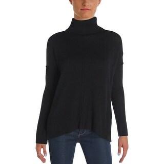 Aqua Womens Turtleneck Sweater Cashmere Marled