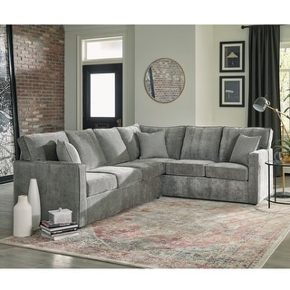 Link to Maddox Grey Sectional Sofa Bed with Queen Gel Memory Foam Mattress Similar Items in Living Room Furniture