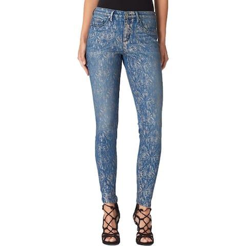 Jessica Simpson Womens Kiss Me Skinny Jeans Mid-Rise Dark Wash
