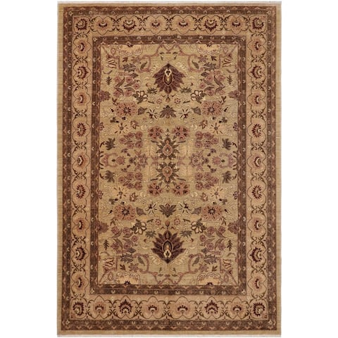 Boho Chic Ziegler Nicole Brown/Tan Hand knotted Rug - 9'4 x 12'2 - 9 ft. 4 in. X 12 ft. 2 in.