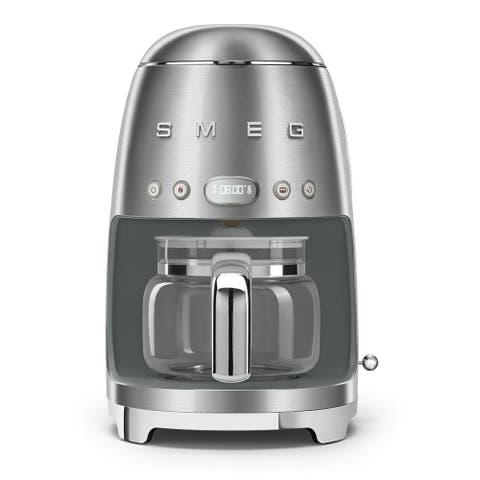 Smeg 50's Retro Style Aesthetic Drip Coffee Machine, Stainless Steel