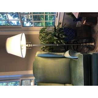 Davies 60-inch Brushed Steel Floor Lamp