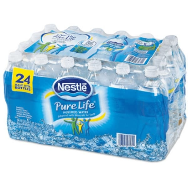 Nestle Pure Life 12243706 Bottle Drinking Water, 0 5 Liter, 24-Pack