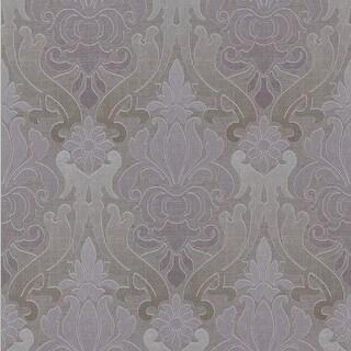 Brewster 295-66540 Aquitaine Purple Nouveau Damask Wallpaper