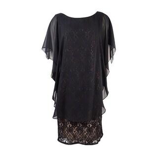 R&M Richards Women's Plus Size Chiffon Caplet Sequin Dress (Option: 20w)