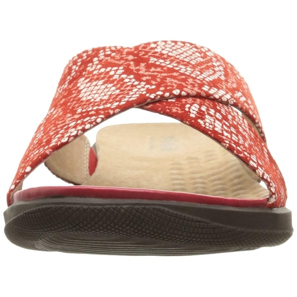 SoftWalk Womens Tillman Leather Open Toe Casual Slide Sandals. Opens flyout.