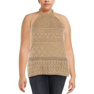 Lauren Ralph Lauren Womens Halter Sweater Silk Linen Blend