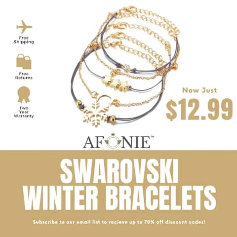 Winter Bracelet 5PC. Set With Swarovski® Crystals 18K White Gold Plated Bracelet