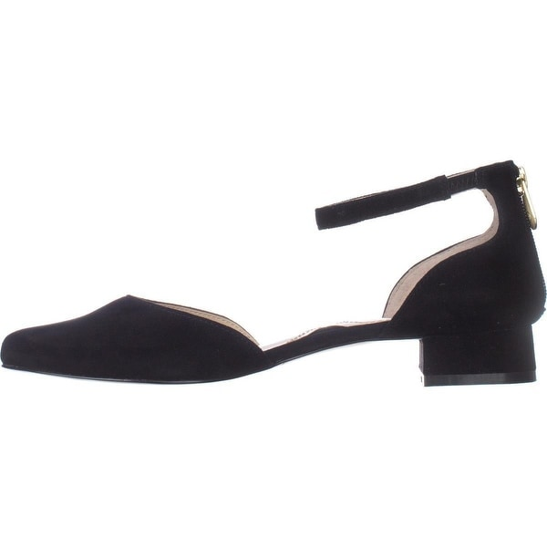 Adrienne Vittadini Womens Soto Leather Pointed Toe Ankle Strap D-orsay Pumps