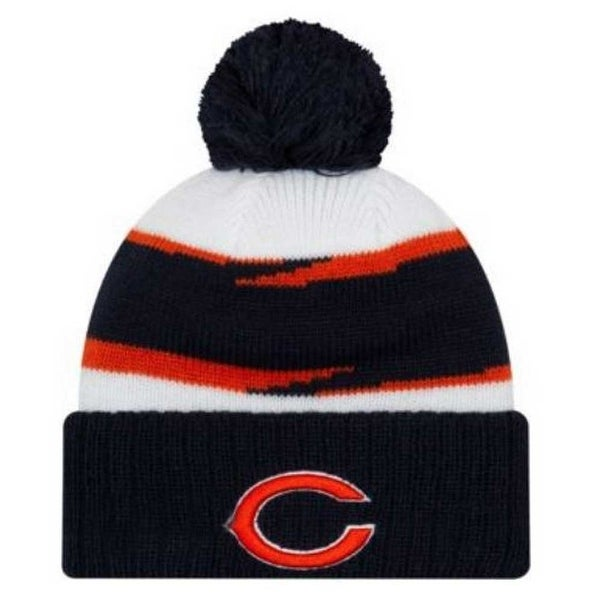 separation shoes 0df24 95f92 New Era 2018 NFL Chicago Bears Thanksgiving Stocking Knit Hat Beanie Winter  POM