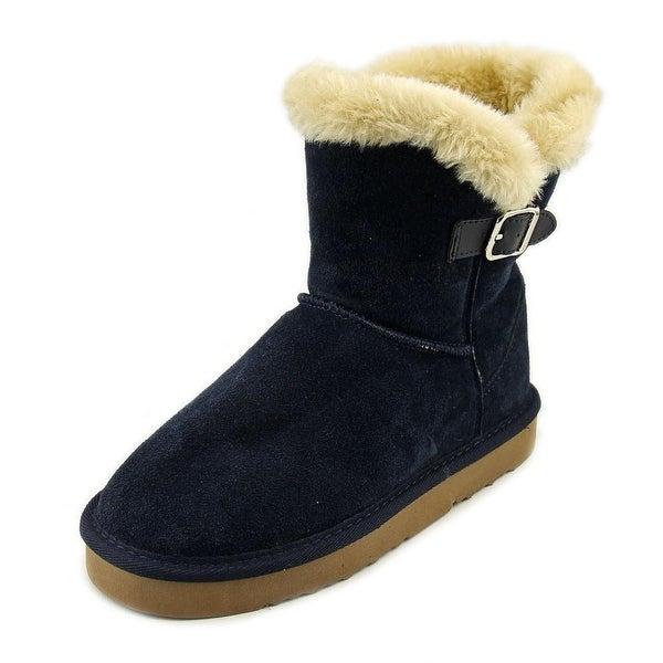 Style & Co Tiny 2 Women Round Toe Suede Blue Winter Boot