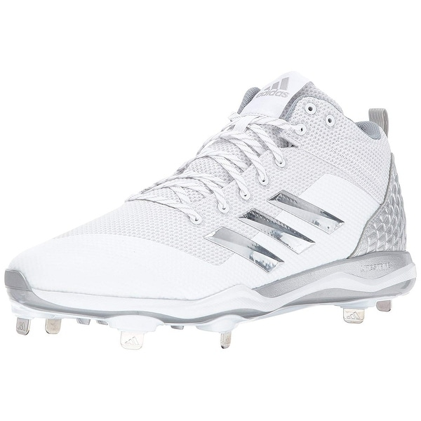 promo code b0199 6d693 Adidas Mens POWERALLY 5 MID Low Top Lace Up Baseball Shoes