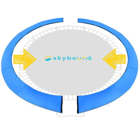 """SkyBound Trampoline Pad Spring Cover For 14ft Frame - Quick Install - 14"""""""