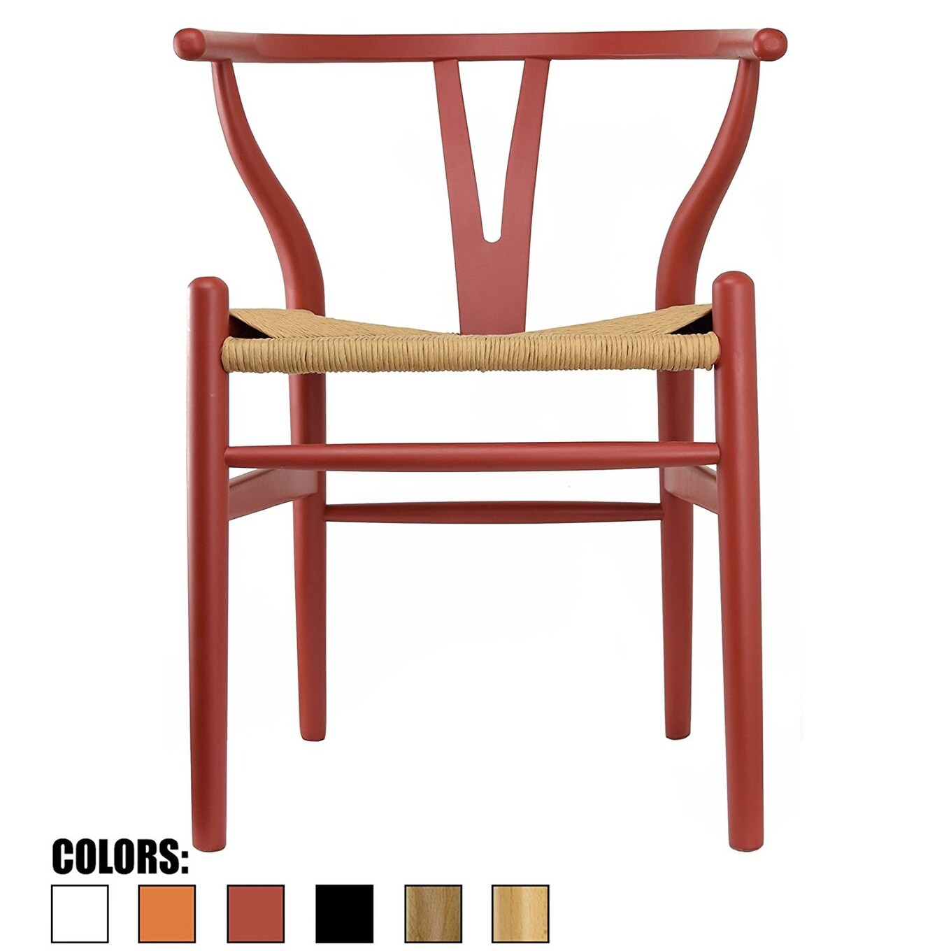 2xhome Red Modern Wood Elbow Chair Open Y Back Contemporary For Kitchen Dining Room With Woven Seat On Sale Overstock 13957683