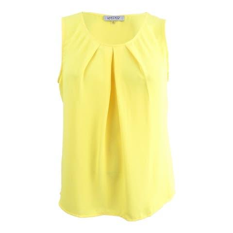 Kasper Women's Plus Size Pleated Shell Top