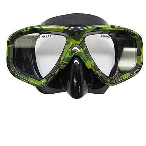 Scuba Diving Spearfishing Low Volume Silicone Camouflage Dive Mask