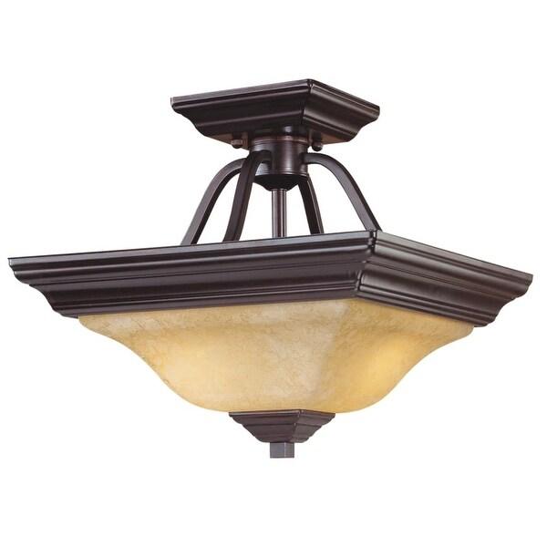 Millennium Lighting 752 2-Light Semi-Flush Ceiling Fixture - euro bronze - n/a