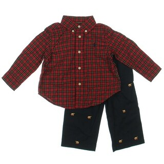 Ralph Lauren Infant Twill Pant Outfit - 12 mo