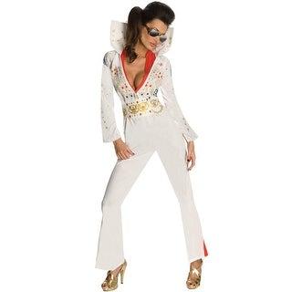 Rubies Secret Wishes Elvis Adult Costume - White