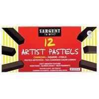 Sargent Art Sq Chalk 12 Charcoal Colors Pastels