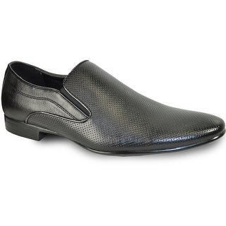BRAVO Men Dress Shoe KLEIN-3 Loafer Shoe Black with Leather Lining (More options available)