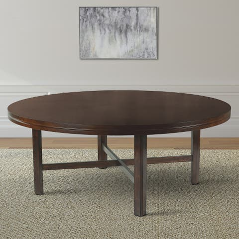 Hampton 72-inch Round Dining Table with Optional Lazy Susan by Greyson Living