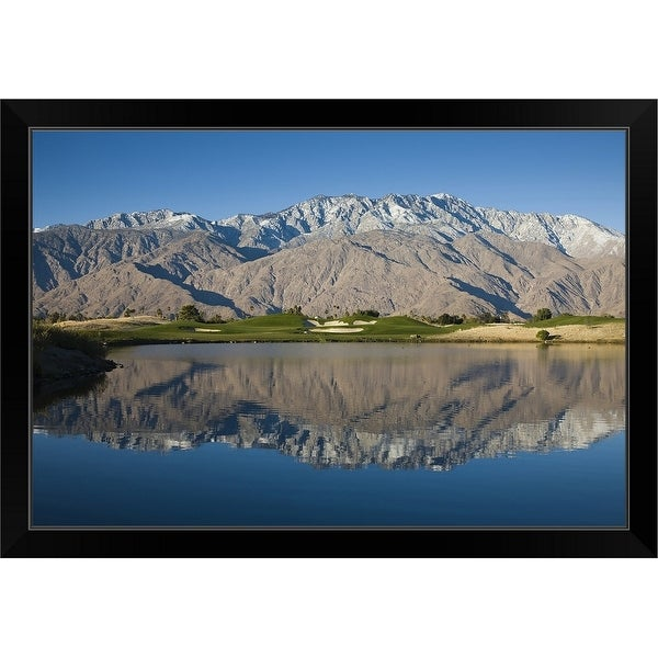 """Desert Princess Country Club, Palm Springs, Riverside County, California"" Black Framed Print"