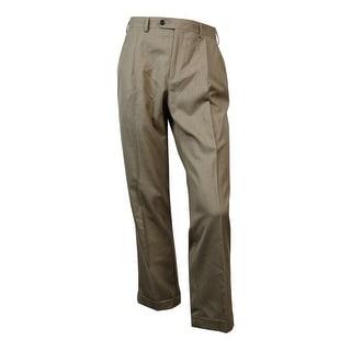 Lauren Ralph Lauren Men's Pleated Dress Pants (36X30, Light Brown) - Light brown - 36X30
