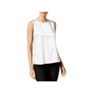 Kasper Womens Petites Blouse Satin Sleeveless