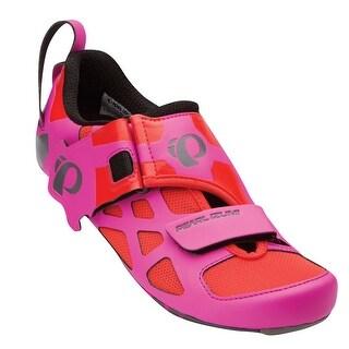 Pearl Izumi 2016/17 Women's Tri Fly V Carbon Triathlon Cycling Shoe - 15215001-4GT - Hot Pink/Black