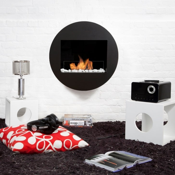 Qwara Indoor/Outdoor Bio Ethanol Wall Fireplace - Thumbnail 0