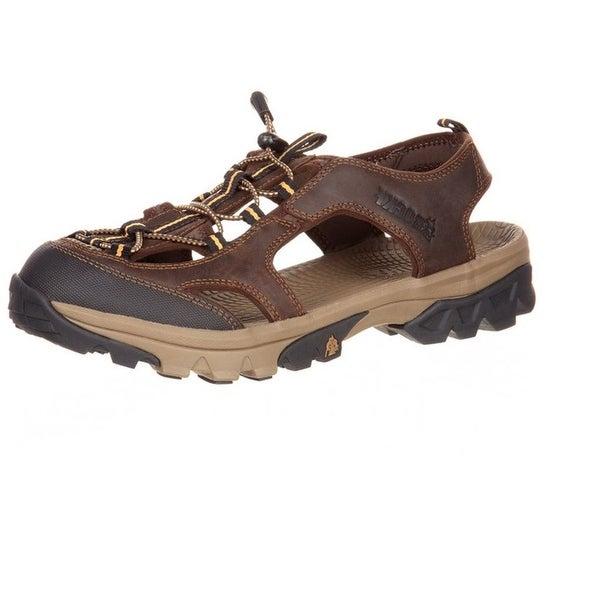 Rocky Outdoor Sandals Mens Endeavor Point Hiking Mesh Brown