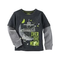 OshKosh B'gosh Baby Boys' Glow-In-The-Dark Layered-Look Space Tee, 9 Months