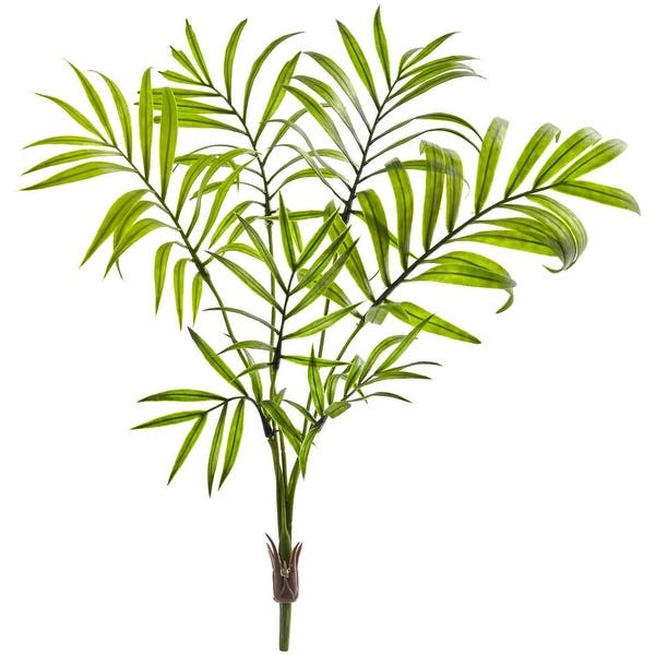 Nearly Natural Mini Areca Palm Artificial Bush Set Of 8 Overstock 27717154