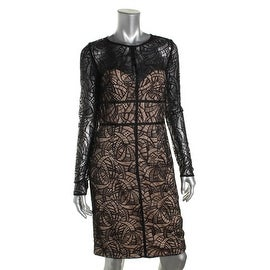 Monique Lhuillier Womens Lace Sheath Cocktail Dress - 8