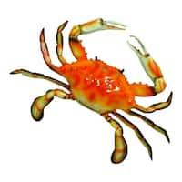 Large 17 Inch Replica Steamed Crab Wall Beach Decor