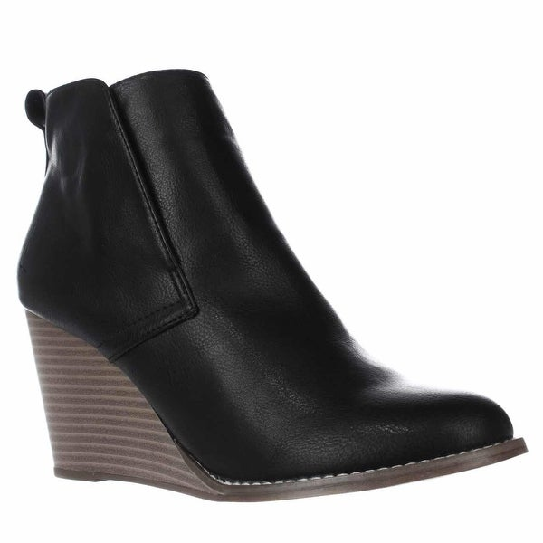 Nautica Calyan Wedge Ankle Boots, Black