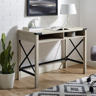 "The Gray Barn 42"" Metal X Farmhouse Desk"