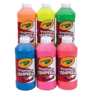 Crayola Premier Non-Toxic Tempera Paint, 1 pt Squeeze Bottle, Fluorescent Green